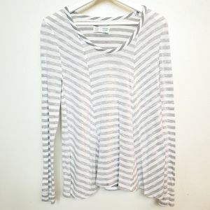 Anthropologie Striped Swing Top